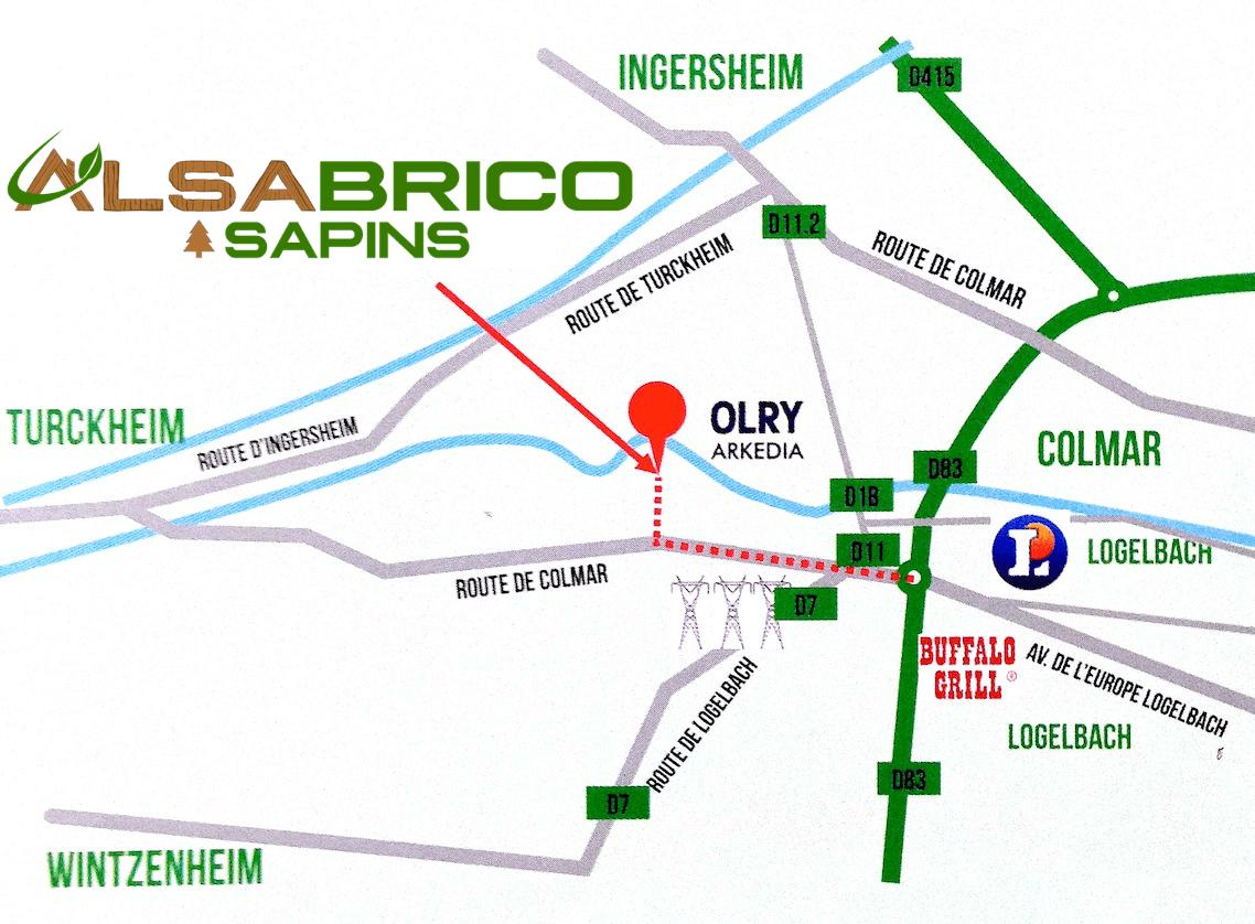 Plan d'accès Alsacork Sapins