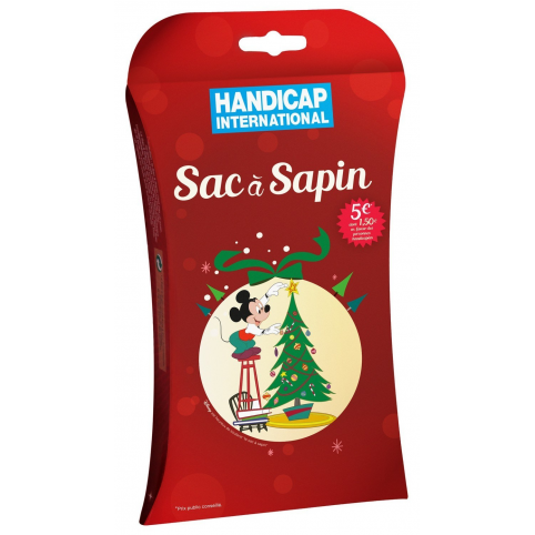 Sac à sapin de Noël biodégradable HANDICAP INTERNATIONAL
