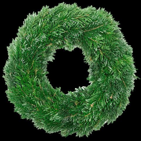 Couronne de Noël en sapin naturel - Vue de face