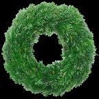 Couronne de Noël en sapin naturel - 30 cm